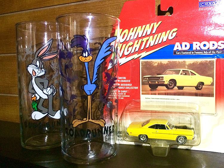 ロードランナー/バッグスバニー グラス 2個セット