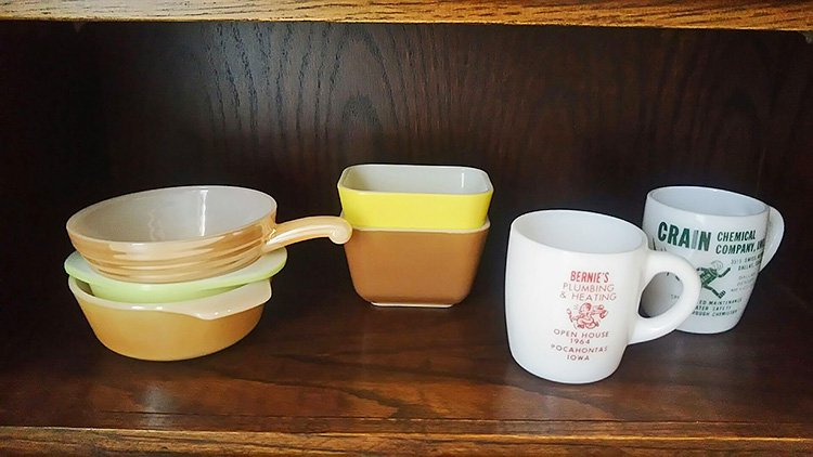 パイレックス レフ Sサイズ 茶/黄色、ミニキャセロール ライム、ファイヤーキング カッパーティント キャセロール